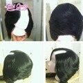 Moda u parte perucas curtas bob malaio 7a cabelo humano virgem u em forma de perucas bob 150 densidade com franja lateral frete grátis