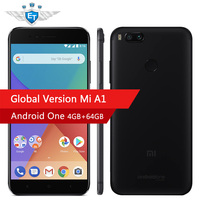 Global Version Xiaomi Mi A1 MiA1 4GB 64GB ROM Smartphone Snapdragon 625 Cellphone 5.5 Inch Dual Cameras 12MP LTE 4G Android One