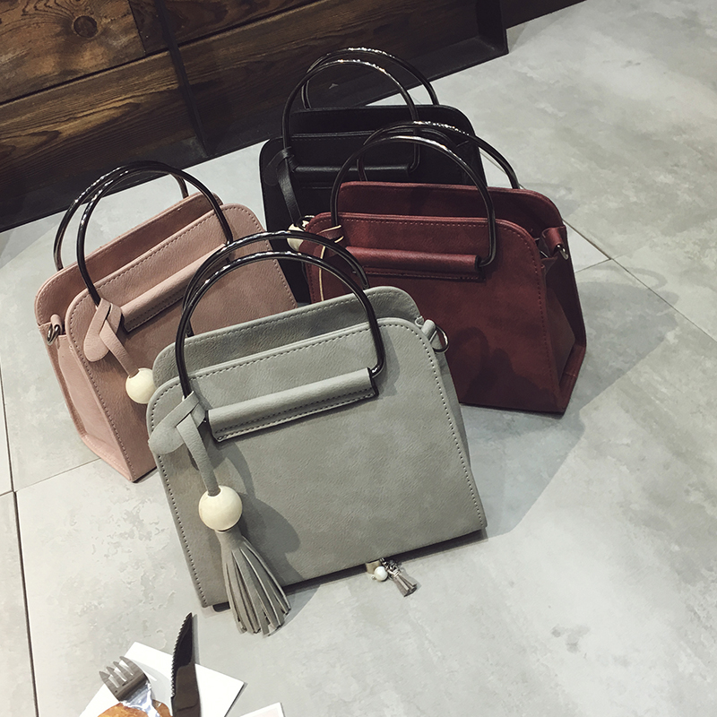 Free shipping, 2017 new women handbags, fashion simple flap, retro Korean version shoulder bag, tassel woman messenger bag. free shipping women 2017 new tide package fashion simple shoulder messenger bag spring and summer wild atmosphere korean version