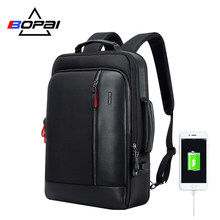 BOPAI Multifunction USB Charging Men 15.6 Inch Laptop Backpack Anti theft Enlarge Men Travel Backpack For Teenager Drop Shipping(China)