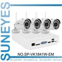 SunEyes SP-VK1841W-EM 1080 P Full HD 4-КАНАЛЬНЫЙ IP CCTV Camera Kit с 4 Шт. Беспроводной Wi-Fi ИК Открытый Ip-камера 1080 P HD