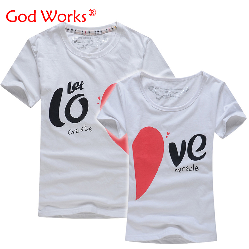 Lovers T Shirt For Couples  And Lovers Clothes Lovers tshirt  Summer Shirt Men & Women Heart Love T-shirts Shape Shirt Clothes