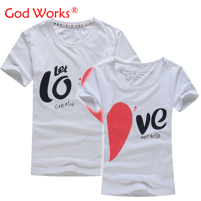 e66a855b54 Lovers T Shirt For Couples And Lovers Clothes Lovers tshirt Summer Shirt  Men & Women Heart Love T-shirts Shape Shirt Clothes