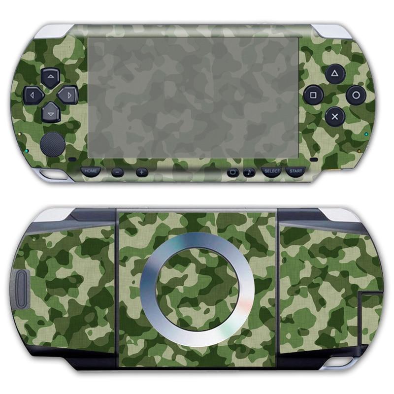 Бесплатная Прямая доставка для камуфляжной кожи высокого качества наклейки для PSP 1000 виниловые передние и задние наклейки # TN-PP1000-092