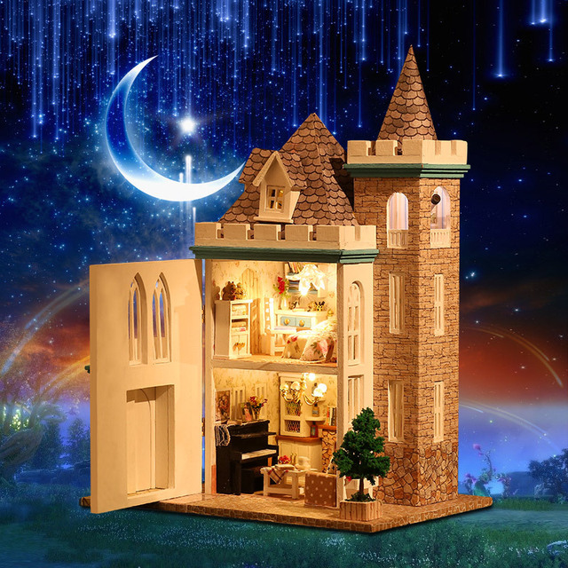 Lovely Castle Shaped Large DIY Doll House