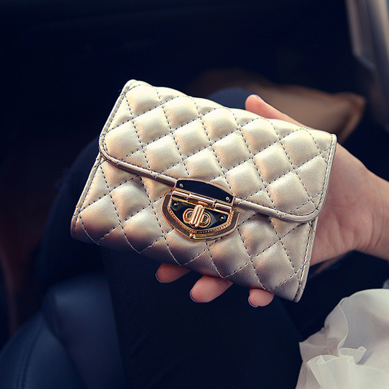 Famous Brand Spring Luxury Lock Short Women Wallet Vintage Multifunction Coin Pocket Purse Card Holder Female Clutch Wallets