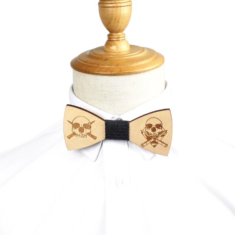 Wood Bow Tie For Men Wooden Mens Bowties Gravatas Corbatas Business Butterfly Cravat Ties For Party Wedding Wood Ties