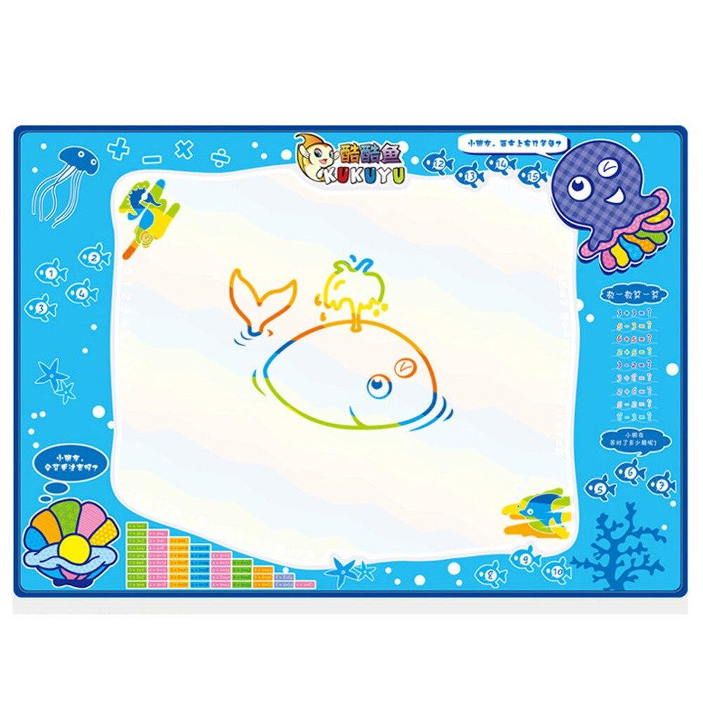 Новинка 2017 года 50 см x 35 см воды ребенок малыш Рисунок Живопись Написание Коврики плате Magic Pen Doodle подарок рисунок игрушка pochoir Peinture