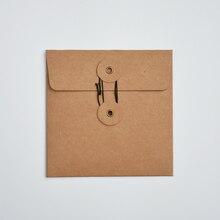 """MaoTu 20 יח\אריזה תקליטור DVD אריזה תיק קראפט נייר שרוולי מעטפות תכשיטי מתנת אריזת גלישת מקרה עמיד 13x13 ס""""מ"""