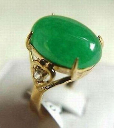 Hot selling free shipping******** Noble beautiful Genuine Green Natural stone Ring AAA Grade size 6 7 8 9