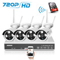 ANNKE 720 P HD 4CH Беспроводной NVR Wi-Fi Ip-сеть CCTV Камеры Безопасности Системы 1 ТБ