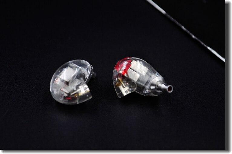 Wooeasy Clear Color DIY EE846 5Units 5 Balanced Armature Earphone DIY Headset Custom Made Around Ear Earphone