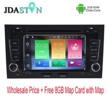 JDASTON 2 DIN 2GB Ram Android 6.zero Automobile DVD Participant For AUDI A4 S4 2002-2008 Octa Core Bluetooth Radio Multimedia GPS Navigation