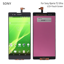 For SONY Xperia T2 Ultra LCD Display Touch Screen D5322 D5303 D5306 XM50h Digitizer with Frame Replacement Phone Parts LCD все цены