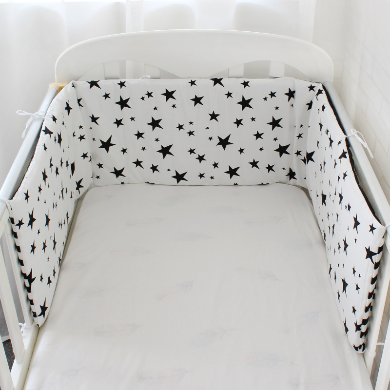 Baby Bed Bumper Thicken Cartoon Crib Around Cushion For Newborns Cot Protector Pillows Baby Room Decor Nordic Design 1Pcs