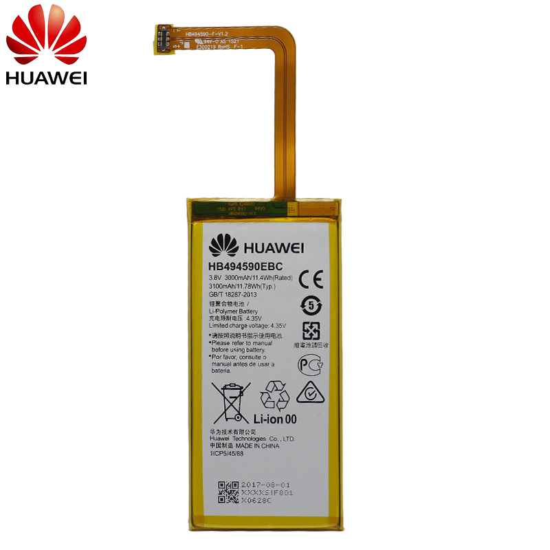 Image 2 - Hua Wei Original Phone Battery HB494590EBC For Huawei Honor 7 Glory PLK TL01H ATH AL00 PLK AL10 3000mAh-in Mobile Phone Batteries from Cellphones & Telecommunications