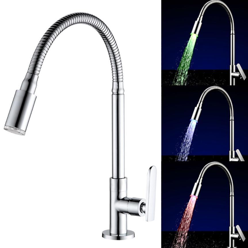 7 Colors Rgb Led Light Water Stream Faucet Tap Led Splash