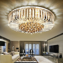 Round living room crystal light LED luxury hall ceiling lamp decoration dining room lamp стоимость