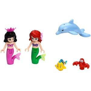 Image 4 - Новое поступление Принцесса Ариэль дворец моря Русалка Compatibie Legoings Строительные блоки Набор игрушек DIY образовательные подарки