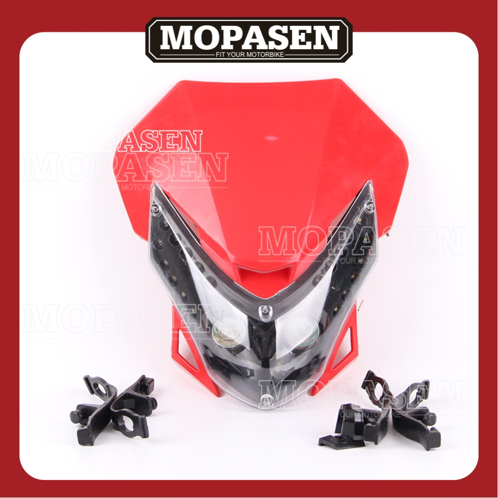 Motorcycle Accessories Streetfight Headlight Headlamp Universal Fit for CRF KLX Dirt Bike Motocross Supermoto Free Shipping ...