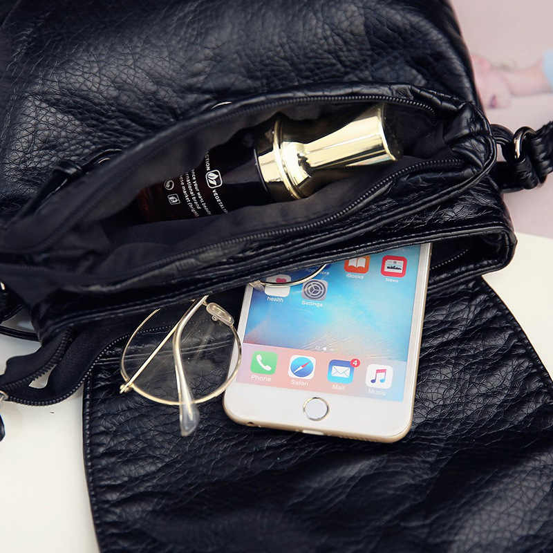 Mini sacos de crossbody das mulheres aleta preto rebite bolsa bolsa pu sac a principal femme senhoras messager saco alça longa feminina embreagem o saco