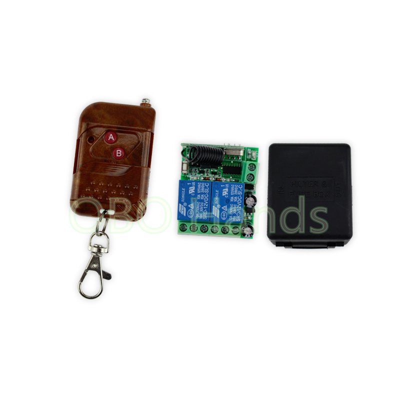 Two Doors 315/433MHz 12V 2CH wireless remote control switch+receiver module and shell for electric lock system-TM32 315 433mhz 12v 2ch remote control light on off switch 3transmitter 1receiver momentary toggle latched with relay indicator