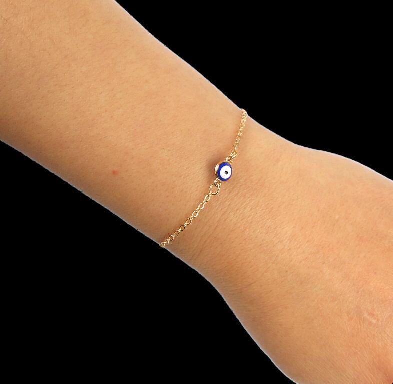 Chain & Link Bracelets Men Lovers Unisex Blue Eye Trendy Classic Bohemia