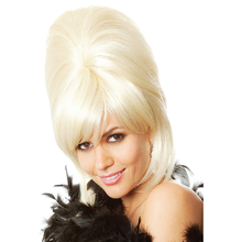 60 letnia ula Perruque 1960s Teaser Sock Hop lakier do włosów Retro smar Bouffant blond Vintage Retro kostium damski akcesoria