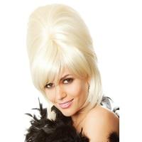 60's Beehive Perruque 1960s Teaser Sock Hop Hairspray Retro Grease Bouffant Blonde Vintage Retro Women's Costume Accessories