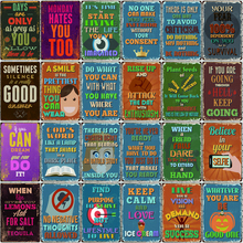 Family Rules Metal Tin Sign Vintage Plates For Wall Pub Home Art Retro Bar Decoration DU-4708