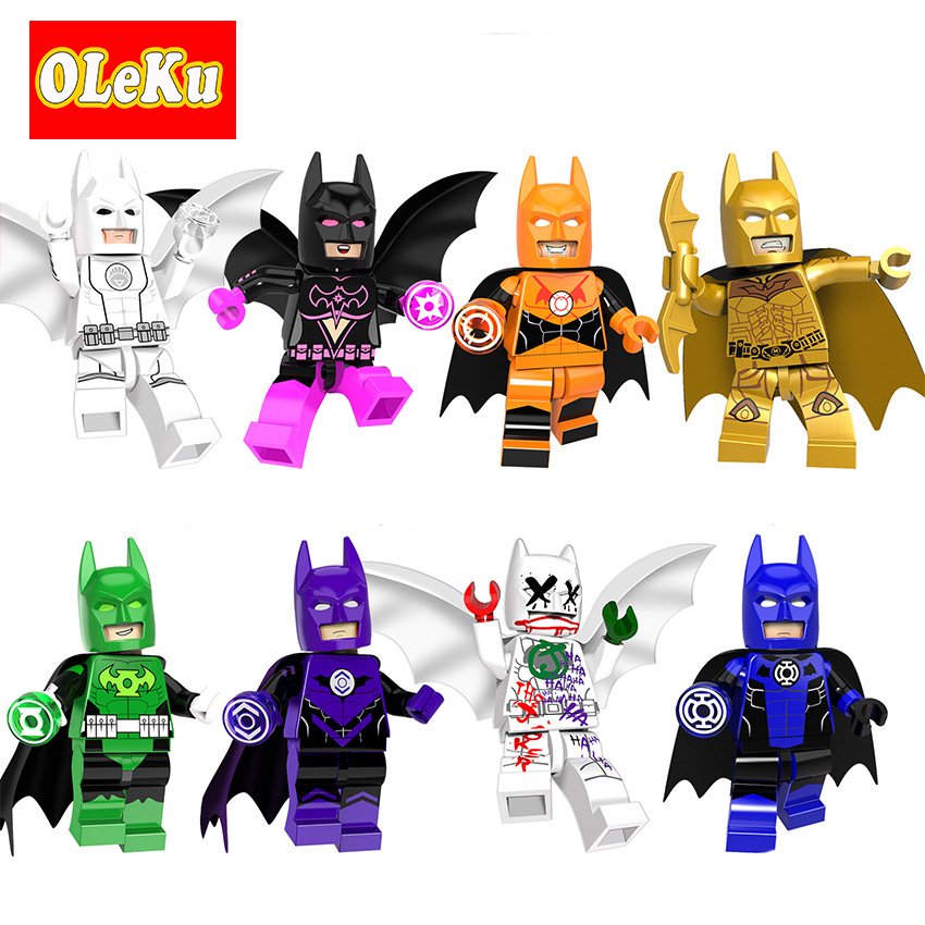 Single Sale Super Heroes Batman Figures Lantern Corps Super Hero Joker Bat-Man Bricks Model Building Blocks Toys for Children цена