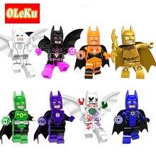 Single Sale Super Heroes Batman Figures Lantern Corps Super Hero Joker Bat Man Bricks Model Building