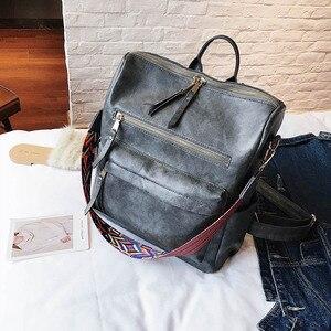Image 5 - Retro Large Backpack Women PU Leather Rucksack Womens Knapsack Travel Backpacks Shoulder School Bags Mochila Back Pack XA96H