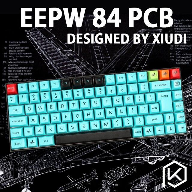 Xd84 75% eepw84 Custom Mechanische Tastatur Unterstützt TKG-TOOLS Underglow RGB PCB programmiert kle Kimera core Viele layouts