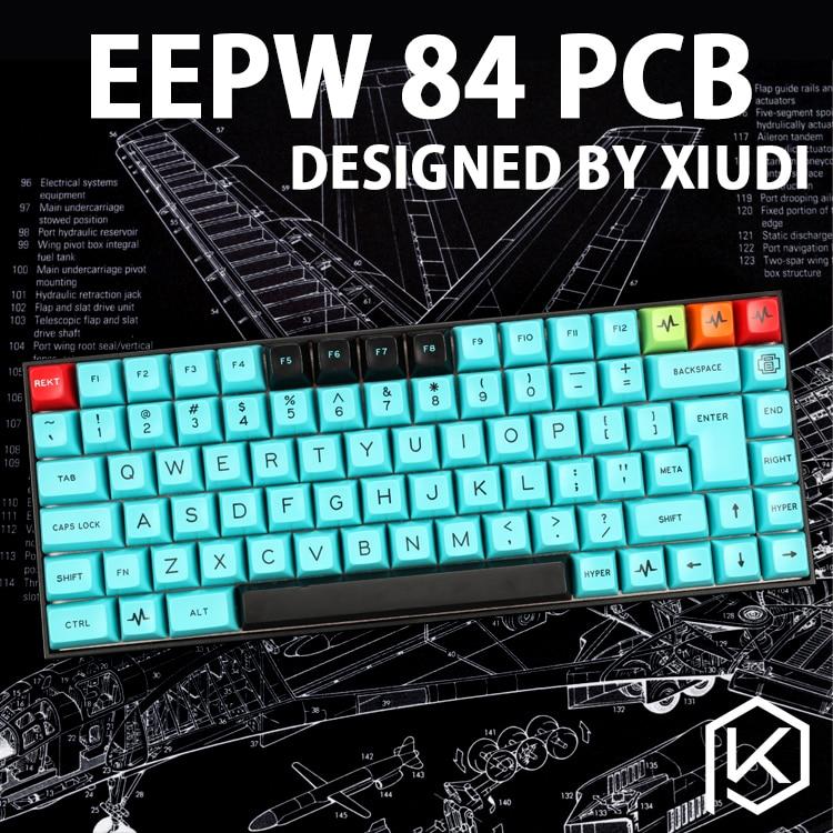 Xd84 75% Eepw84 Custom Mechanical Keyboard  Supports TKG-TOOLS Underglow RGB PCB  Programmed Kle Kimera Core Lots Of Layouts