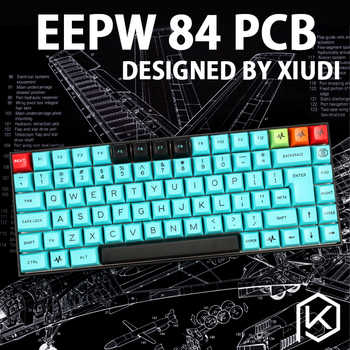 xd84 75% eepw84 Custom Mechanical Keyboard  Supports TKG-TOOLS Underglow RGB PCB  programmed kle Kimera core Lots of layouts - Category 🛒 All Category