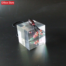 50x50x50mm Clear Plexiglass Display Block Acrylic Cube For Jewelry Stand Holder Cosmetic Show