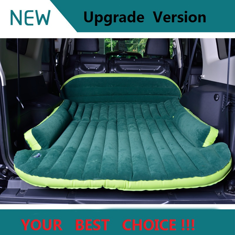 ФОТО SUV Car Sex air Bed Inflatable Mattress With Air Pump Travel Camping Moisture-proof pad Car Back Seat Sleeping Rest Mattress