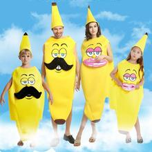 AMBESTPARTY 2019 Adult Kids Food Family Funny Onesie Mascot Costume Banana