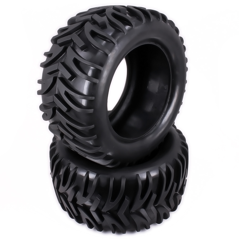 Natural Rubber Tire Tyre For Rc 1/10 Monster Truck Big Foot Truggy Hobby Car HSP Himoto HPI Traxxas Redcat Kyosho Wheel Rim aluminum 7 spoke wheel rim w o tire for rc car tyre1 10 monster truck big foot truggy hsp axial himoto hpi traxxas cnc drifting