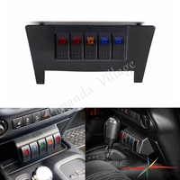 Black Lower ON OFF Switch Panel 5 Rockers Lower Dash Switch Panel For Jeep Wrangler JK 2011 2017
