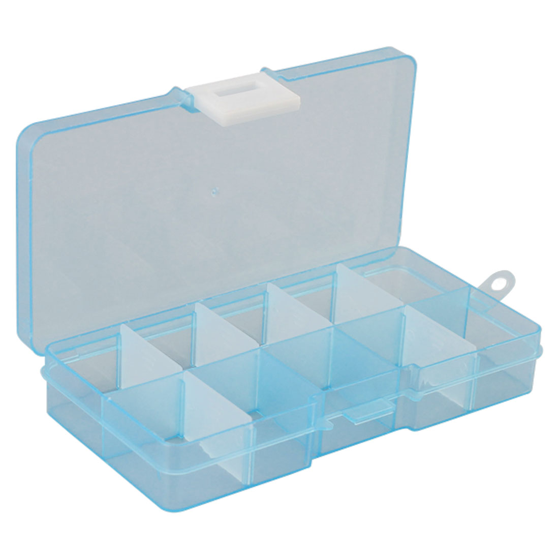 Organizer Plastic Case 10 Slots Cells Colorful Portable Jewelry Tool Storage Box Container Ring Electronic Parts Screw Beads