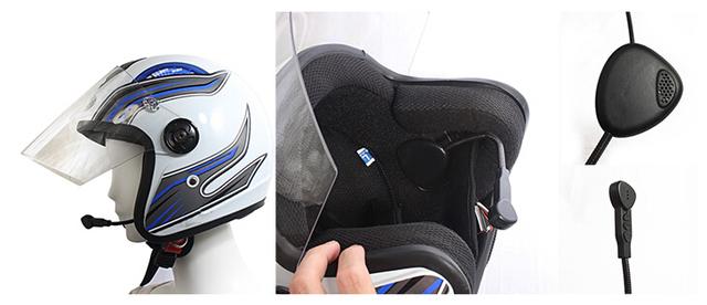 Frete grátis Capacete Da Motocicleta Do Bluetooth Interfone Headset Sem Fio + Um ouvido bluetooth motorcycle helmet headset