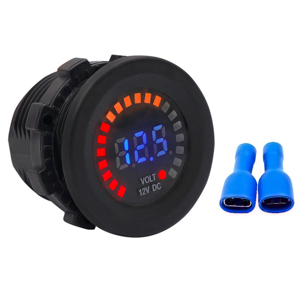 Awesome Waterproof Dc12V Rd Digital Voltmeter Three Wires Vehicles Wiring Cloud Hisonuggs Outletorg
