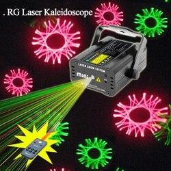SUNY Mini zdalny podręcznik i dźwięk zielony czerwony RG kalejdoskop laserowe oświetlenie sceniczne projektor Xmas pokaz disco ślub potańcówka światło