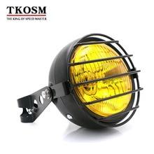 TKOSM Motorcycle Headlights Front Headlight Headlamps Retrofit Retro 12V 35W CG125 GN125 XRL-200