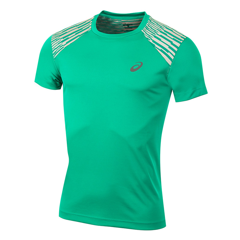 Male T-Shirt ASICS 141238-5007 sports and entertainment for men sport clothes available from 10 11 asics running t shirt 141240 1107