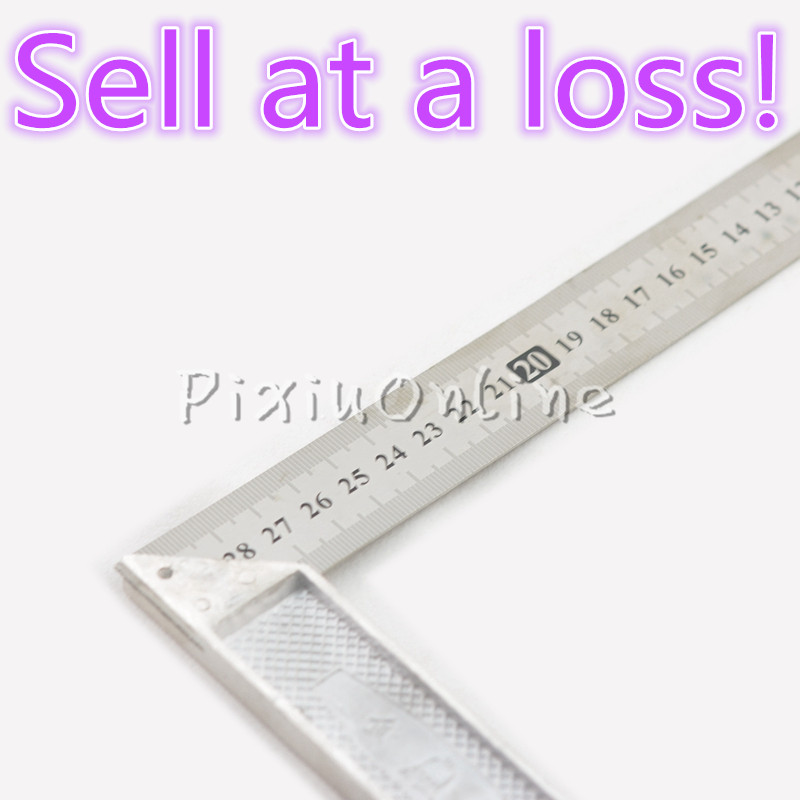 1pc YL306 30CM 90Degrees Triangle LStainless Steel Metal Ruler Metric Precision Double Sided Measuring Construction Tool Parts tape measure 30m 50m stainless steel metric measuring tape retractable flexible ruler construction tools