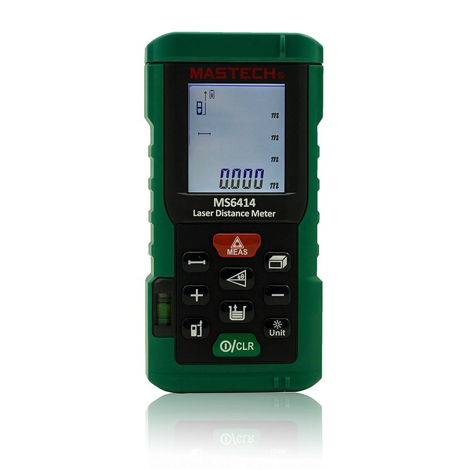Hot MS6414 40M Handheld Laser rangefinder high percision laser Distance Meter/Range Finder Area Volume Tester цена