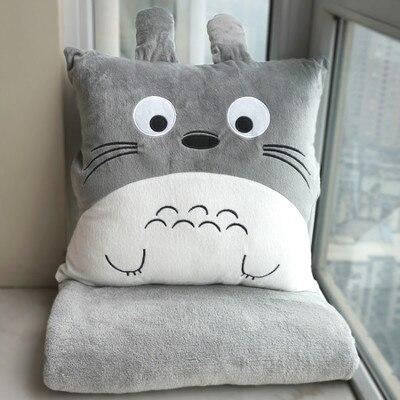 Ofhead Cartoon Nap Pillow Cushion Blanket Air Conditioning Pillow Quilt Dual-use Office Sofa Cushion